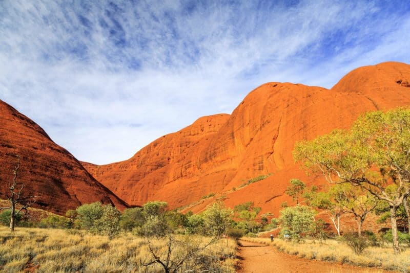Discover the outback hiking at Kata Tjuta National Park.