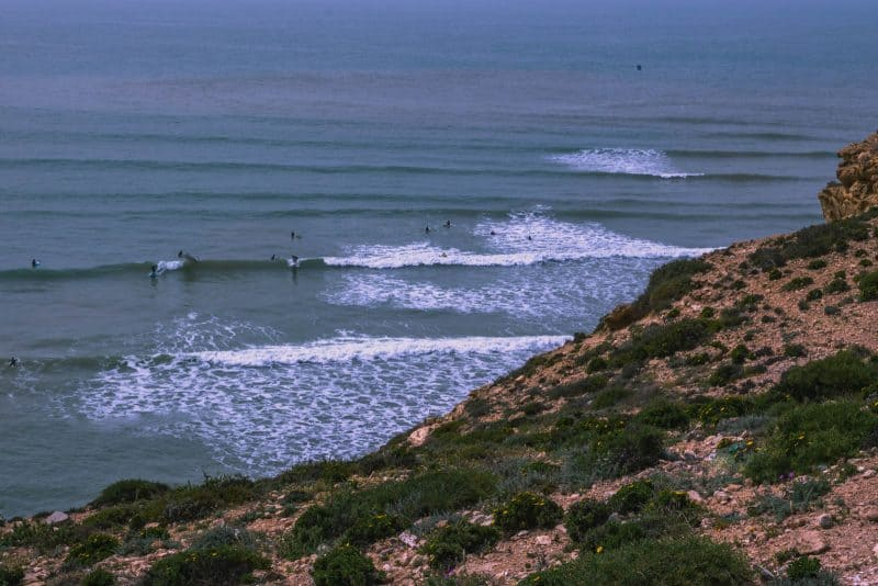 Imsouane surfers enjoying one of the best beaches in Morocco for surfing