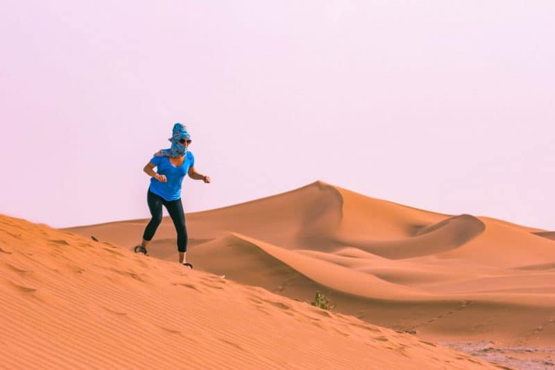 You Sahara desert camp tour hopefully include sandboarding, it's fun!