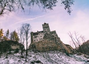 Bran Castle in winter is a perfect thing to do in Transylvania.