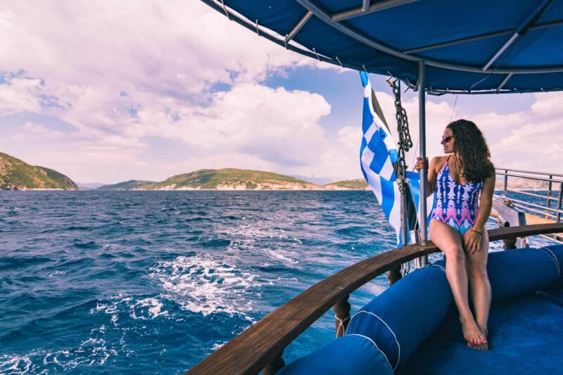 Sailing in Greece while on a group trip