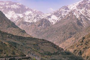 Trekking around Imlil at Toubkal National Park.