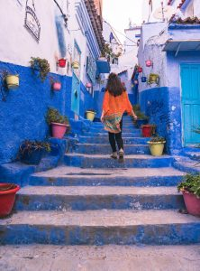 Backpacking Morocco around Chefchaouen.