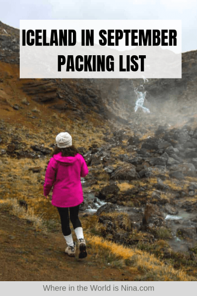 Iceland in September Packing List