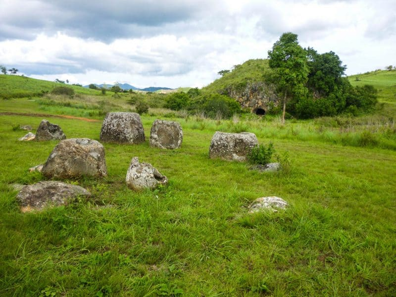Visiting the Plain of Jars in Phonsavan, Laos