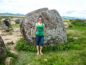 Visiting the Plain of Jars in Phonsavan, Laos
