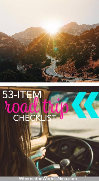 Your Quintessential Road Trip Packing List: 53 Must Haves!