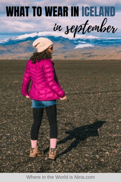 What to Wear in Iceland in September