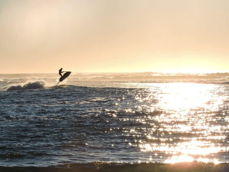 Jetski sunset