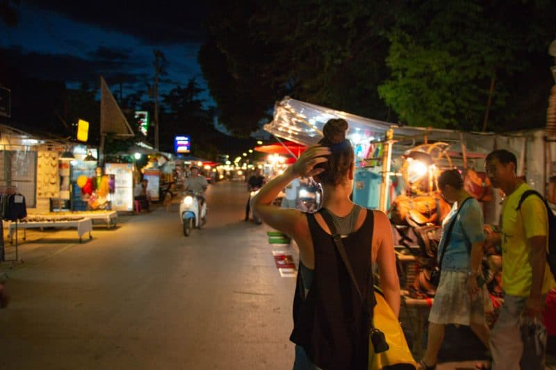 Night market in Pai