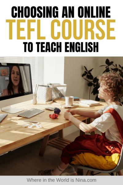 Choosing an Online TEFL Course