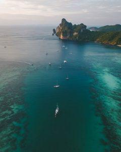 Krabi island sea