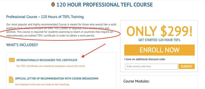 You need to do the 120-hour online TEFL course