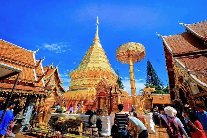 pagoda in Chaing Mai Thailand