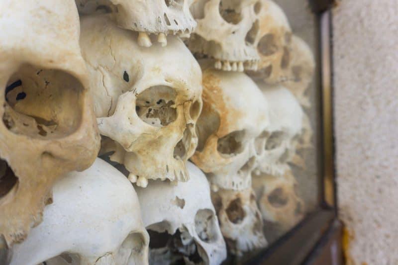 Choeung Ek genocidal center Phnom Penh Cambodia