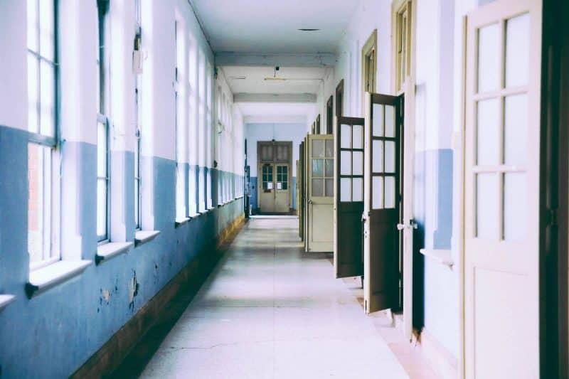 empty classroom hall