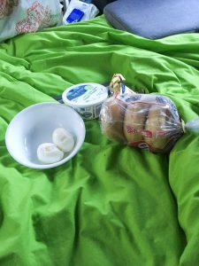 Breakfast in the campervan