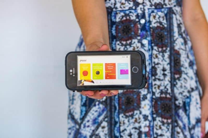 Rosetta Stone app in Spanish