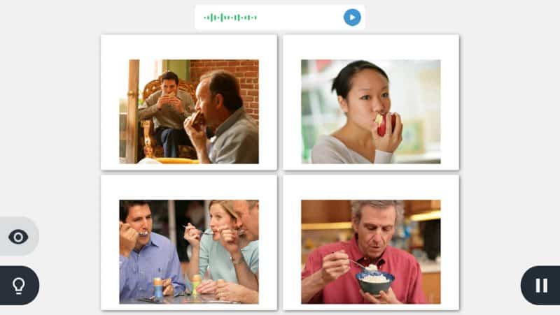 Rosetta Stone app speaking to me