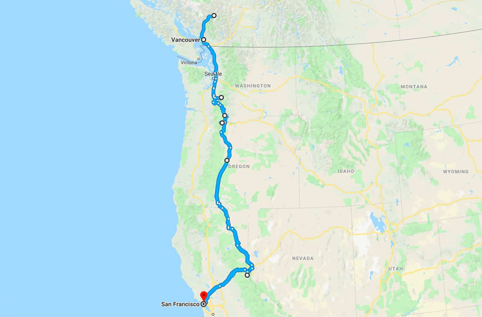 How to Plan a USA Road Trip & Choosing a Vehicle   Where in ... Map My Trip Usa on my island map, my va map, my world map, my usa flag,