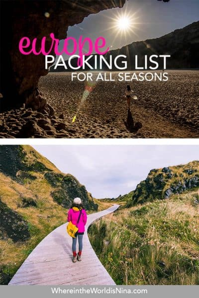 Ultimate Europe Packing List + The Best Travel Backpacks for Europe
