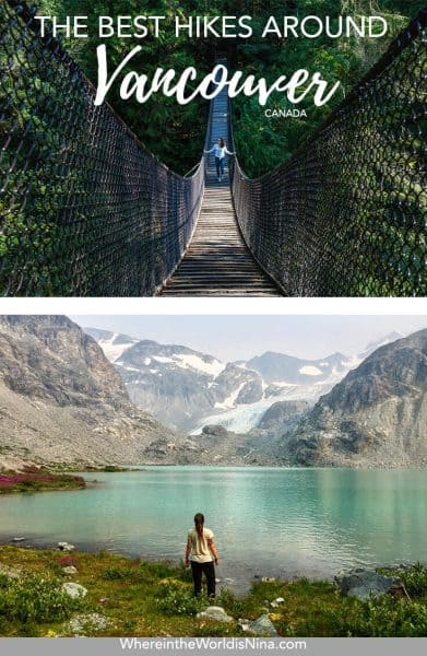 Vancouver's trails are littered across the city and beyond, all of these can be completed within a day from the city. If you're after some adventure in Vancouver but don't want to go too far, check out this list of some of the best hikes in Vancouver. Pin this to your Canada travel board for later!
