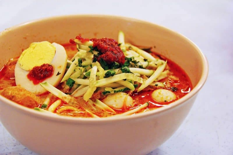 Assam Laksa Malaysian dish