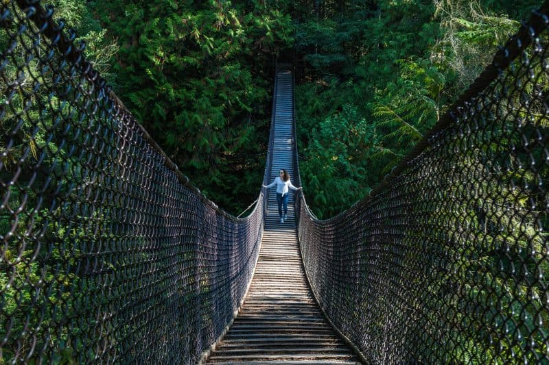 suspension bridge over Lynn canyon