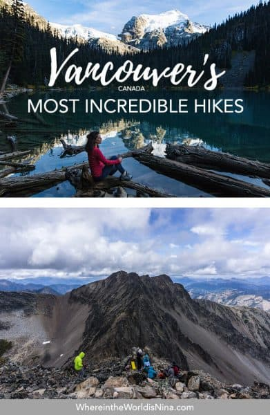 If you're after some adventure in Vancouver but don't want to go too far, check out this list of some of the best hikes in Vancouver. Vancouver's trails are littered across the city and beyond, all of these can be completed within a day from the city. Pin this to your Canada travel board for later!