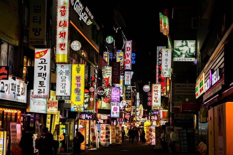 alley in South Korea