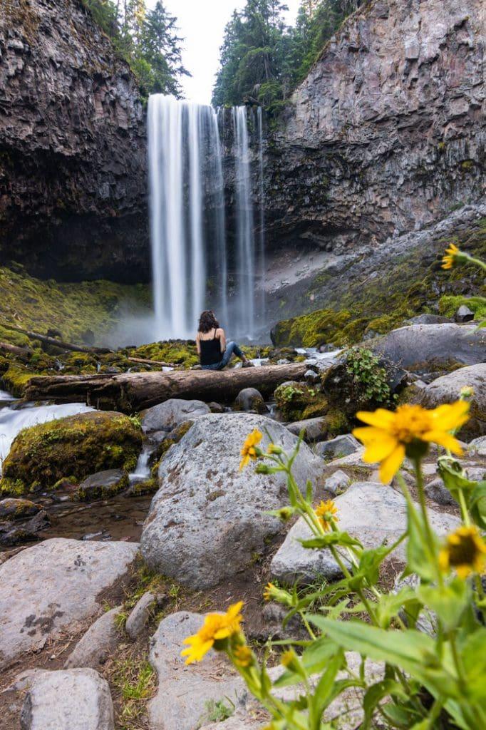 Tamanawas Falls is a fun waterfall hike on the West Coast.