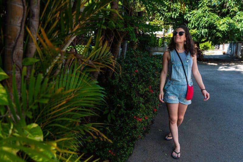walking aside greenery