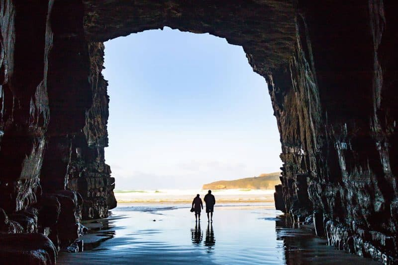 Couple in Cathedral cave