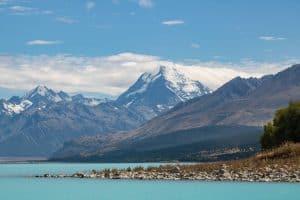 Mountain view on Lake Pukaki