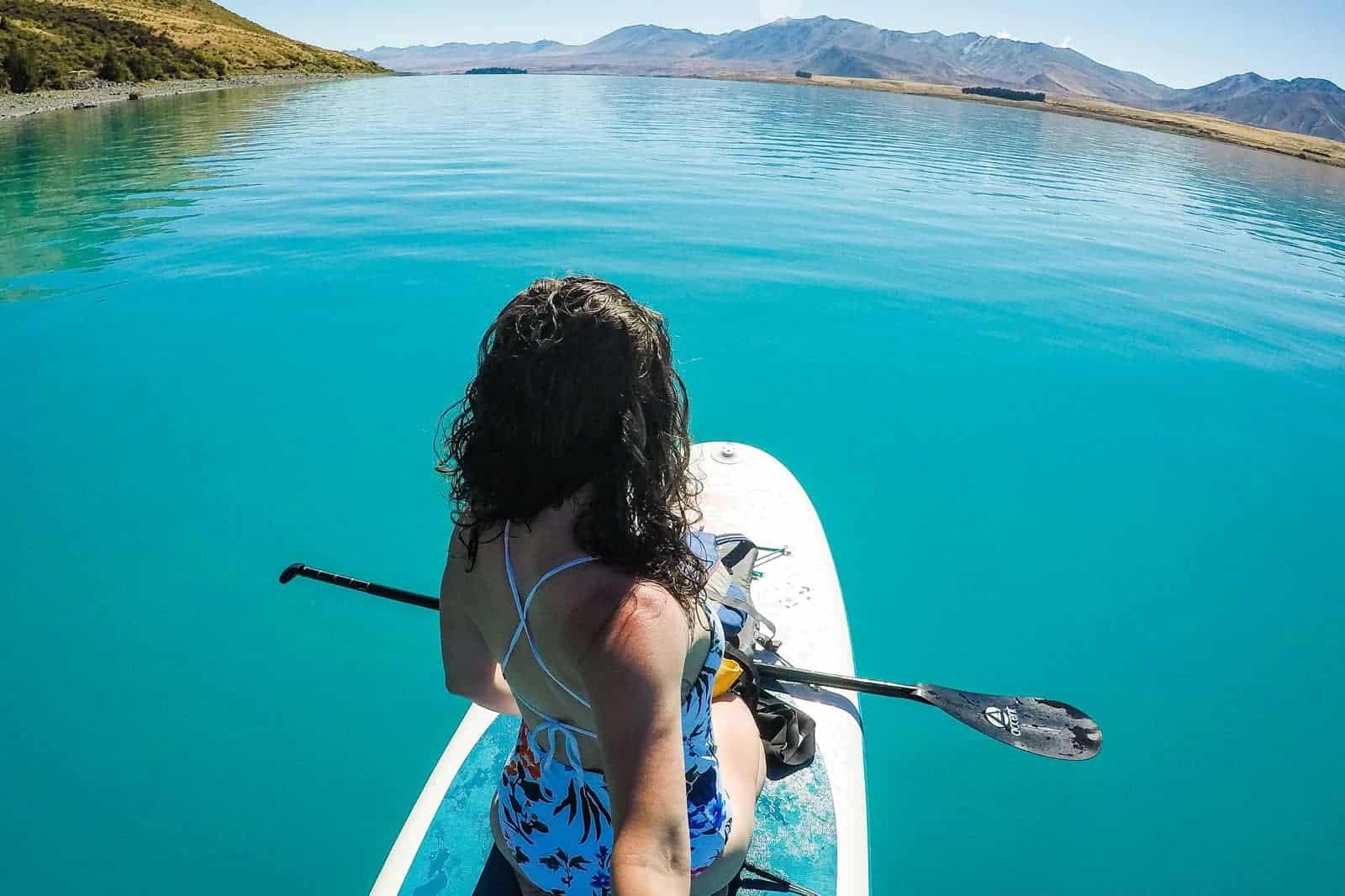 SUP at Lake Tekapo