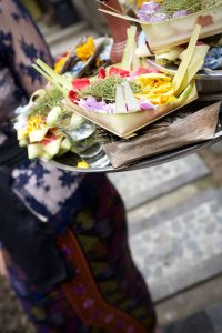 canang sari offering Ubud Bali