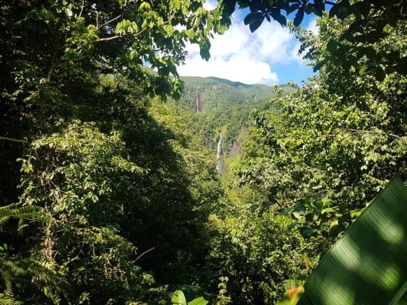 Carbet falls viewpoint Guadeloupe