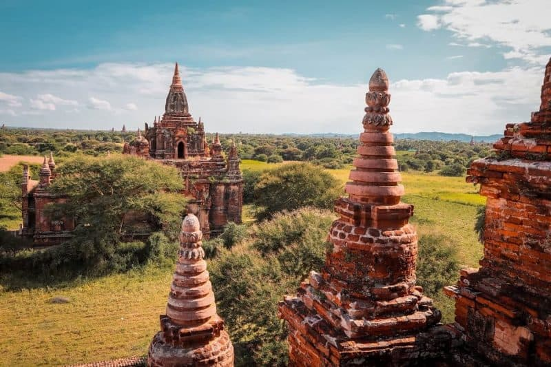 Climbing bagan temples