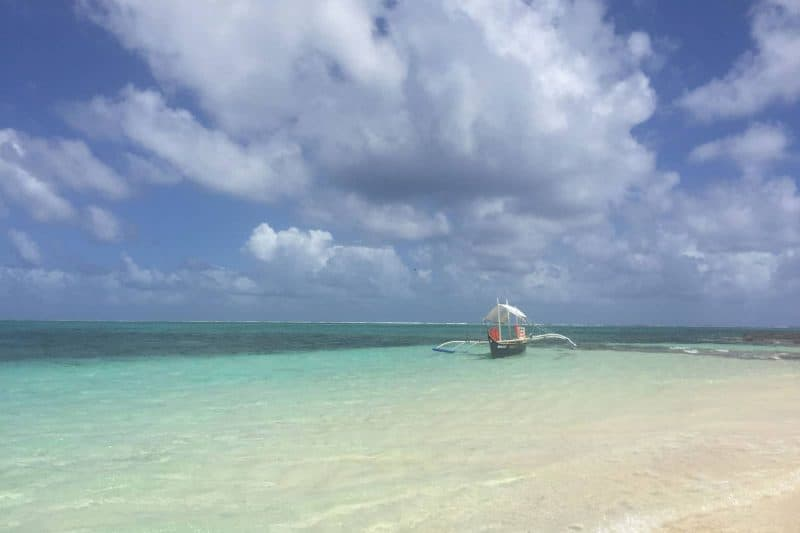 crystal clear water Guyam island