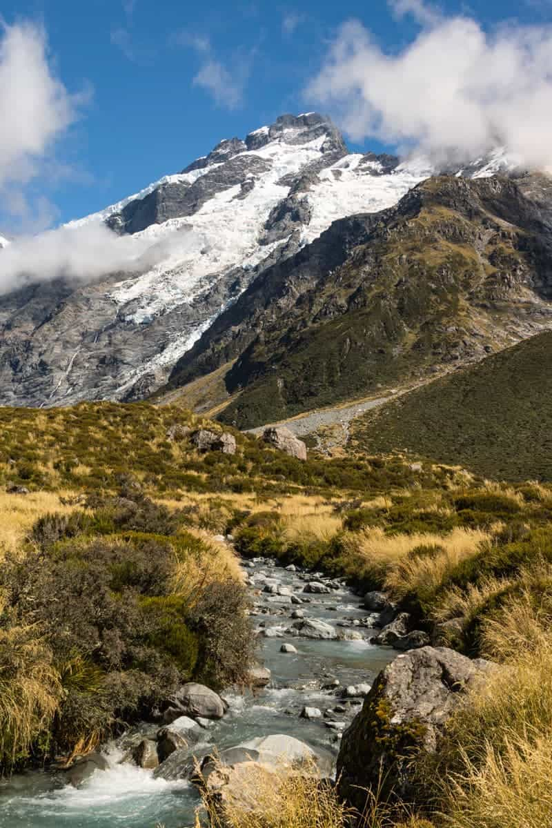 Hooker Valley river view