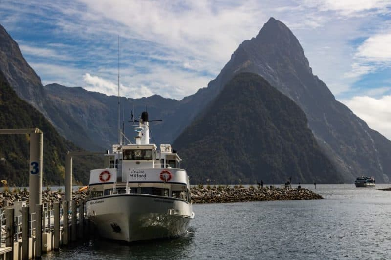 Milford Sound boat dock