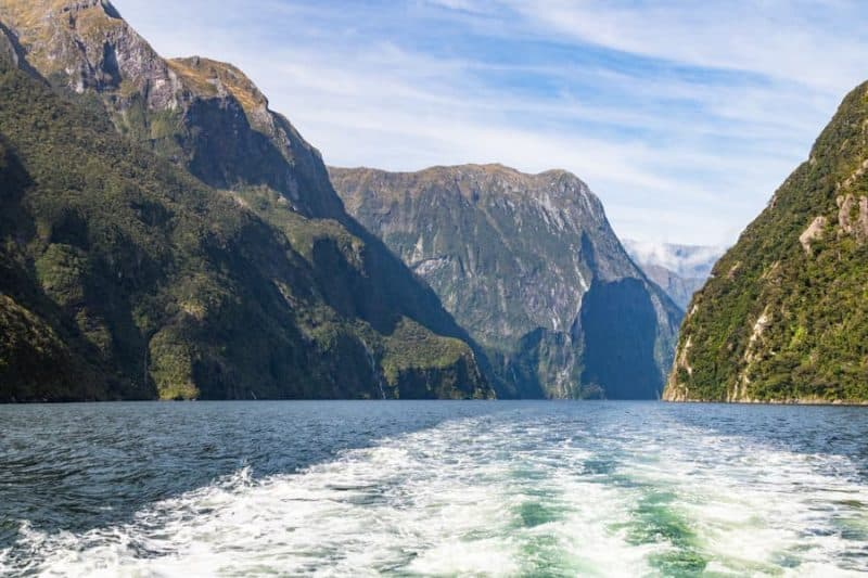 Milford Sound view from a boat