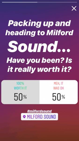 milford sound poll