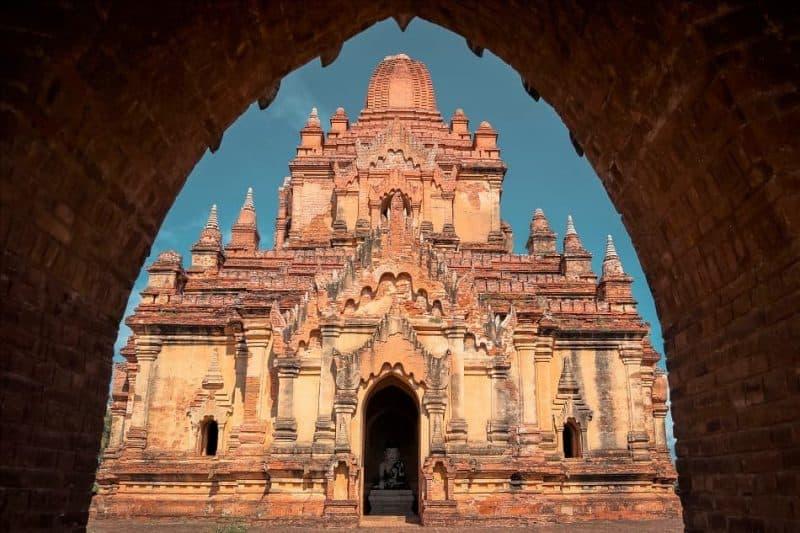 Myauk Guni temple Bagan Myanmar
