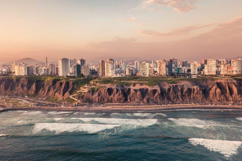 Panorama of Miraflores Playas de la Costa Verde Cercado de Lima Peru