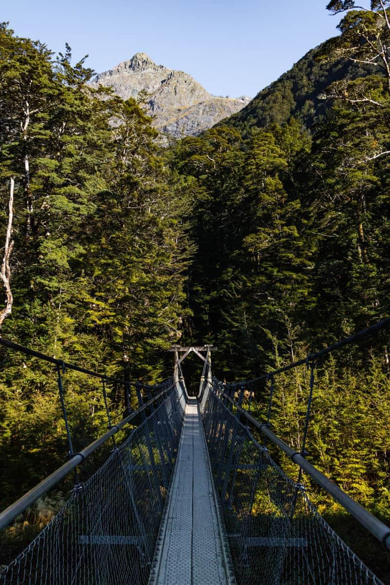 Routeburn track suspension bridge