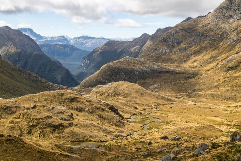 Routeburn track Valley view