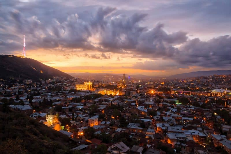 Tbilisi Georgia Sunset