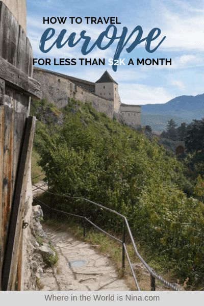 How to Travel Europe for Cheap! How Far a $2k Budget Can Get You