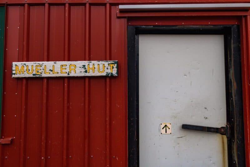 mueller hut door